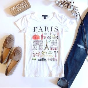 J. Crew Paris Destination Art T-Shirt